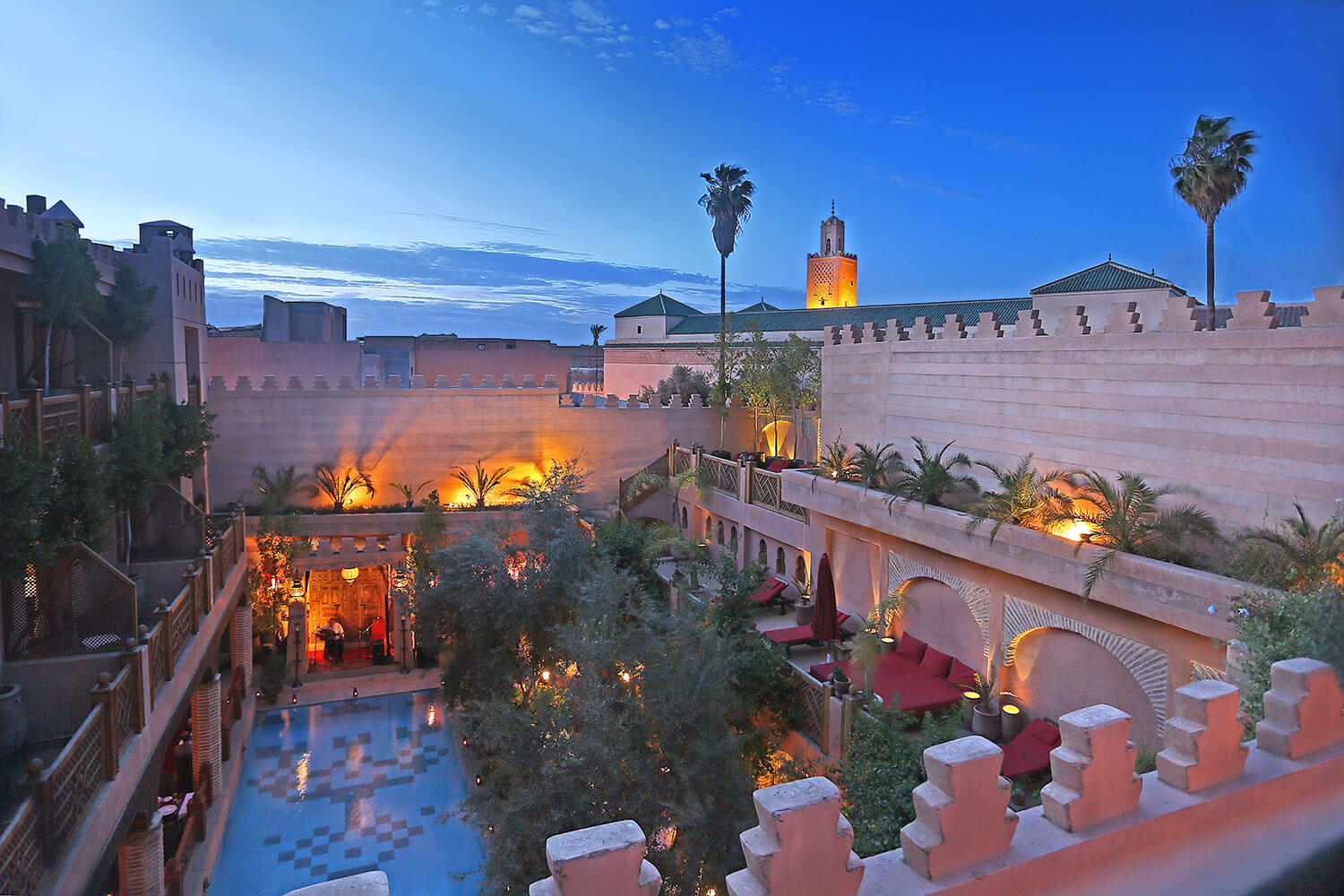 La maison arabe mint morocco for Architecture maison arabe