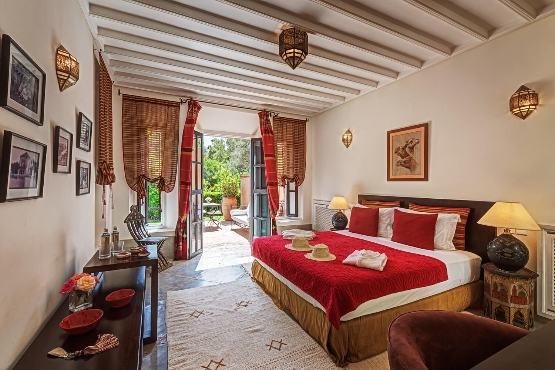 Bedroom at Dar Tamazerte, villa with private pool in Morocco